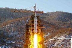 Запуск космической ракеты КНДР