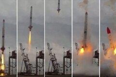 Взрыв космической ракеты
